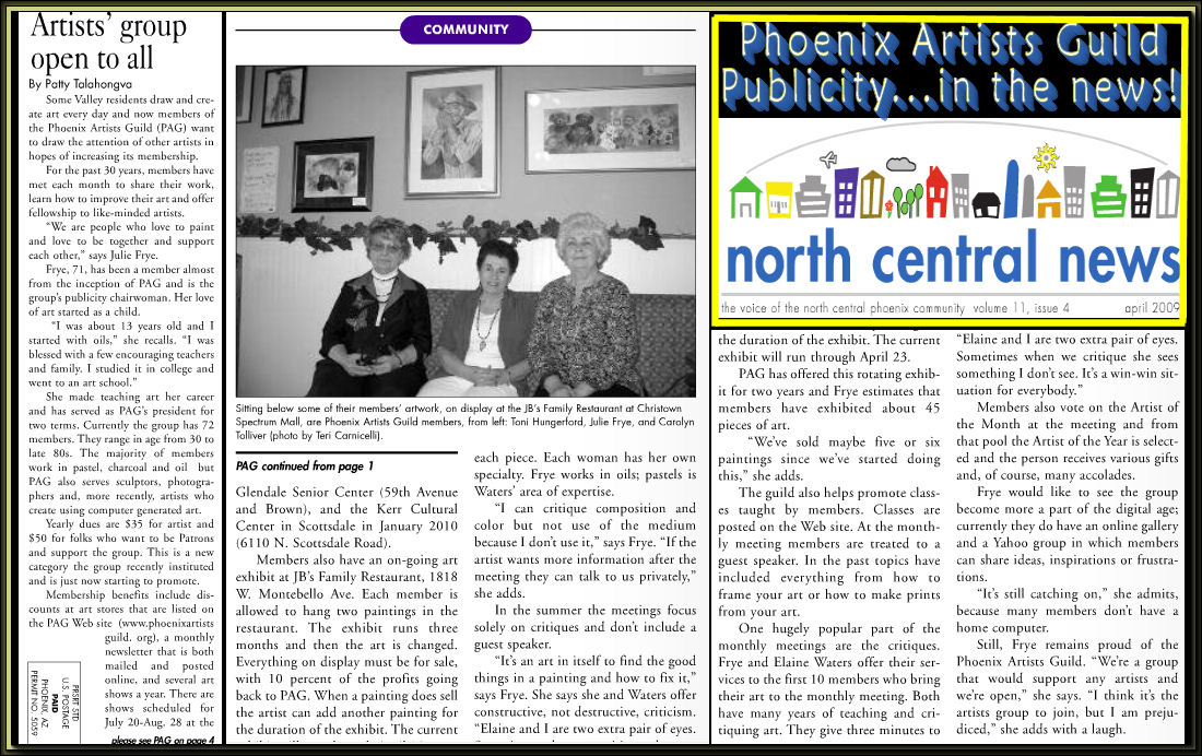 North Central News about PAG graphic