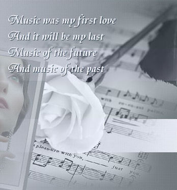 Music First Love Poem graphic